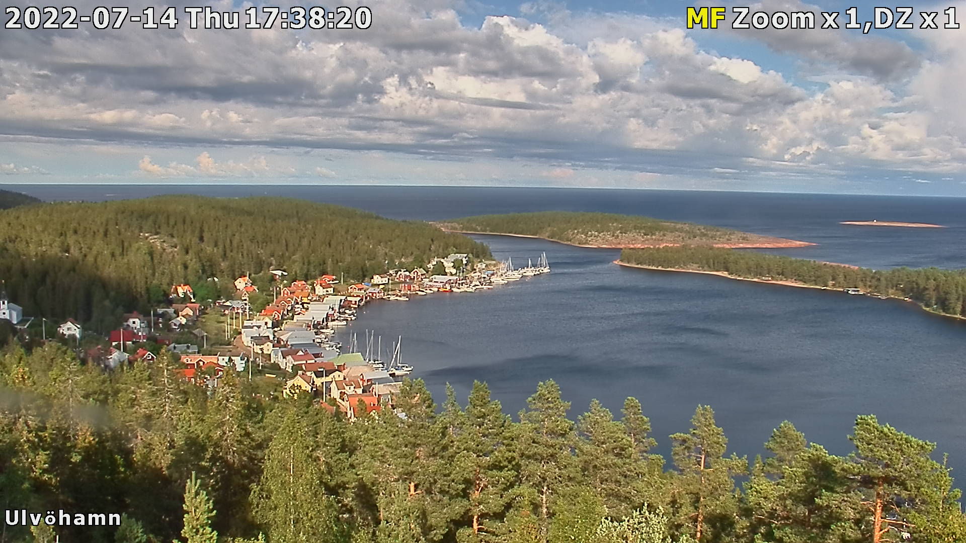 Webcam Ulvöhamn, Örnsköldsvik, Ångermanland, Schweden